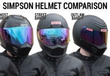 Simpson Motorcycle Helmet Comparison