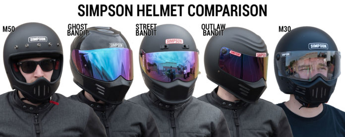 Simpson Motorcycle Helmet Comparison