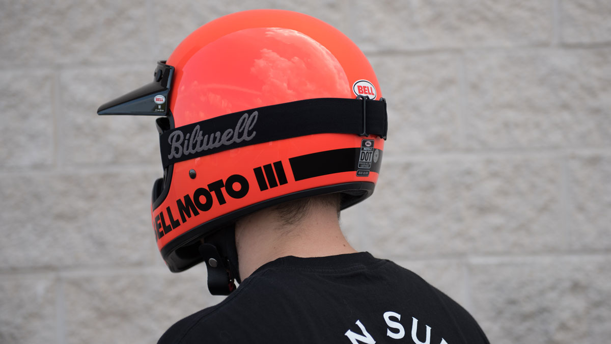 Bell Moto 3 Helmet Orange Back