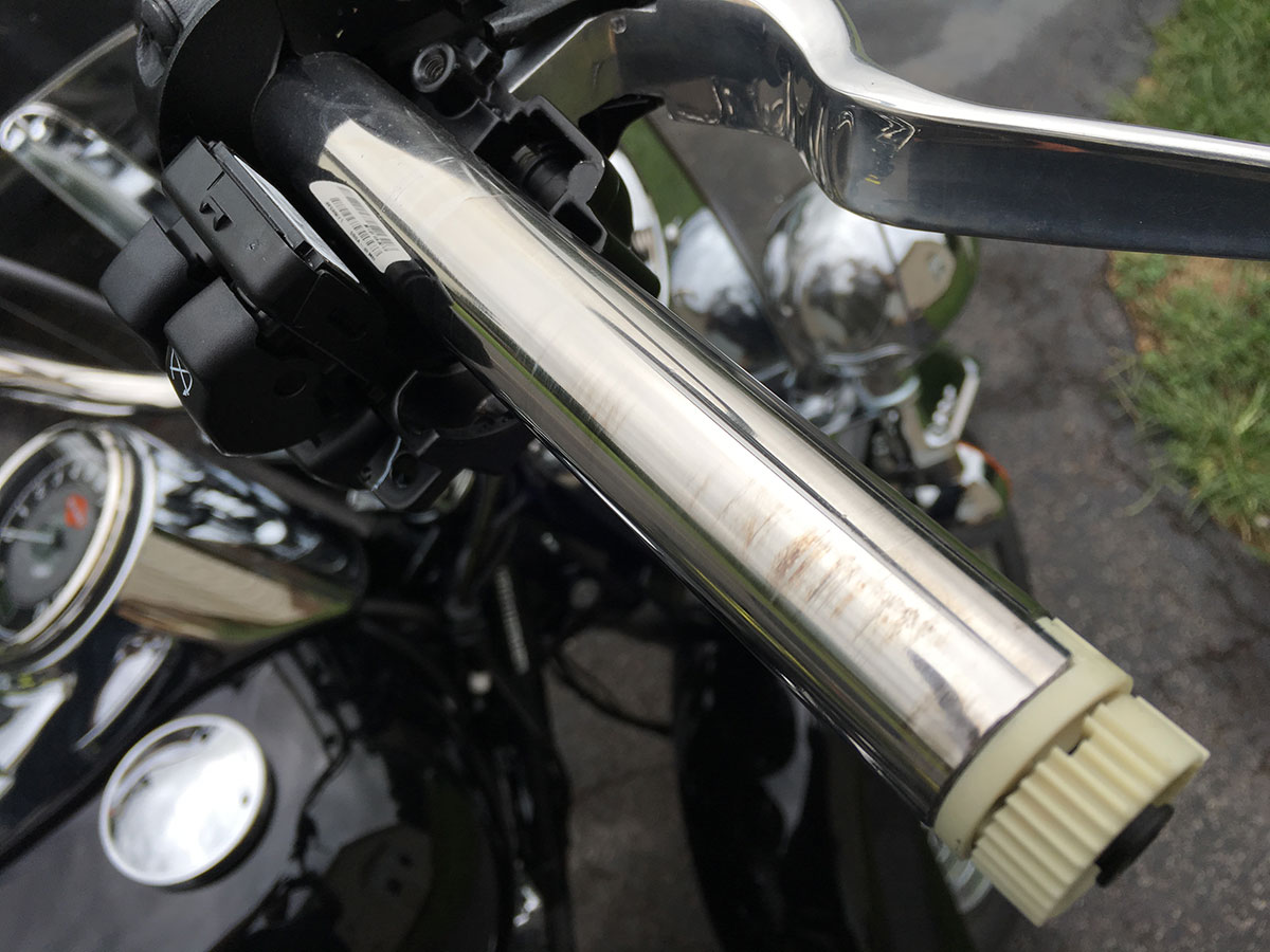 Replacing Stock Motorcycle Grips