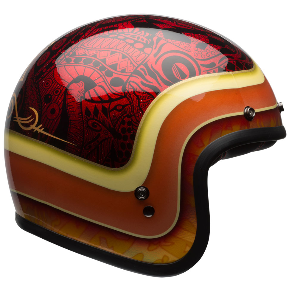 Bell Custom 500 SE Hart Luck Red Black Helmet