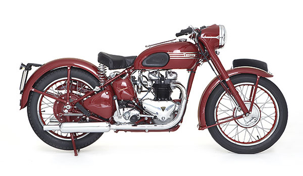 1952 Harley Triumph Twin Motorcycle