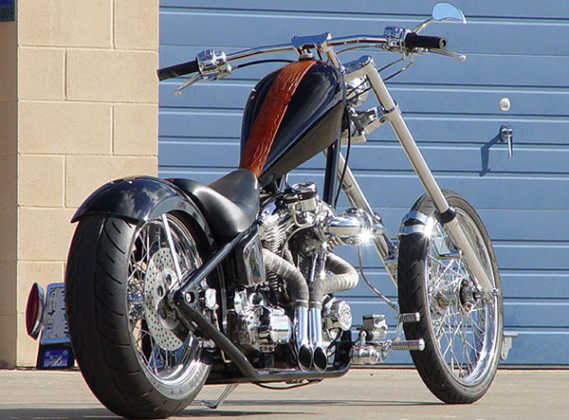 Modern Rigid Frame Chopper Motorcycle