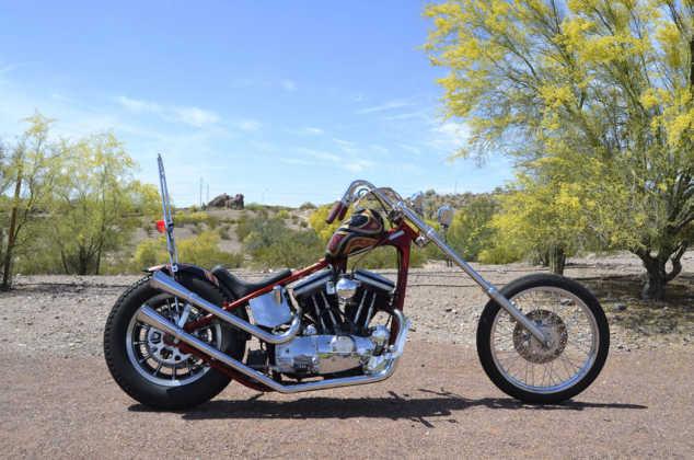 Modern Harley Sportster Chopper