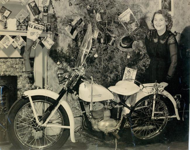 Harley under Christmas Tree