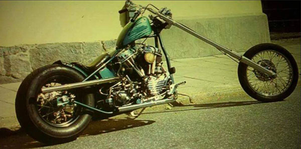 Swedish Panhead Chopper Motorcycle