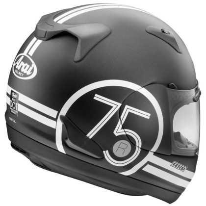 Arai RX-Q 75 Black Helmet Back
