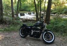 Harley Sportster 48 Camping