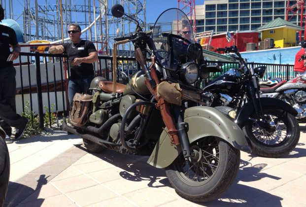 Full Throttle Boardwalk Bike Show Military Motorcycle