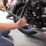 Replace Rear Wheel on Harley Touring Motorcycle